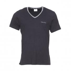 Tee-shirt Calvin Klein en coton noir à col gris