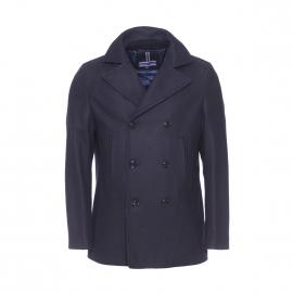Manteau Tommy Hilfiger en laine bleu marine