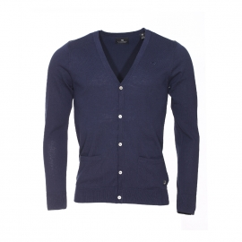Cardigan Scotch & Soda en coton bleu marine