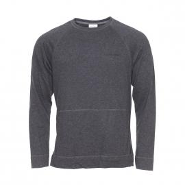 Sweat Calvin Klein en coton gris anthracite chiné à poches