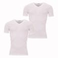 Lot de 2 Tee-shirts col V Eminence en pur coton Blanc