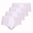 Lot de Slips blancs taille haute ouverts: 3 achetés + 1 offert