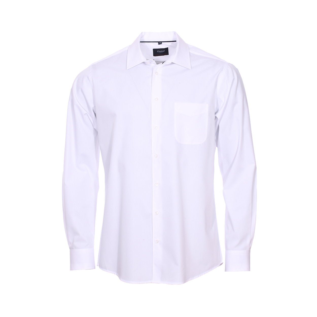 Chemise homme sans repassage  chambray blanche
