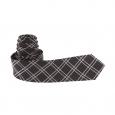 Cravate slim Antony Morato en soie noire à carreaux gris