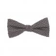 Nœud papillon Antony Morato en soie noire à petits carrés gris