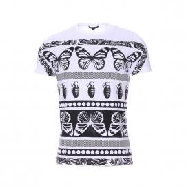 Tee-shirt col rond Antony Morato blanc à motifs
