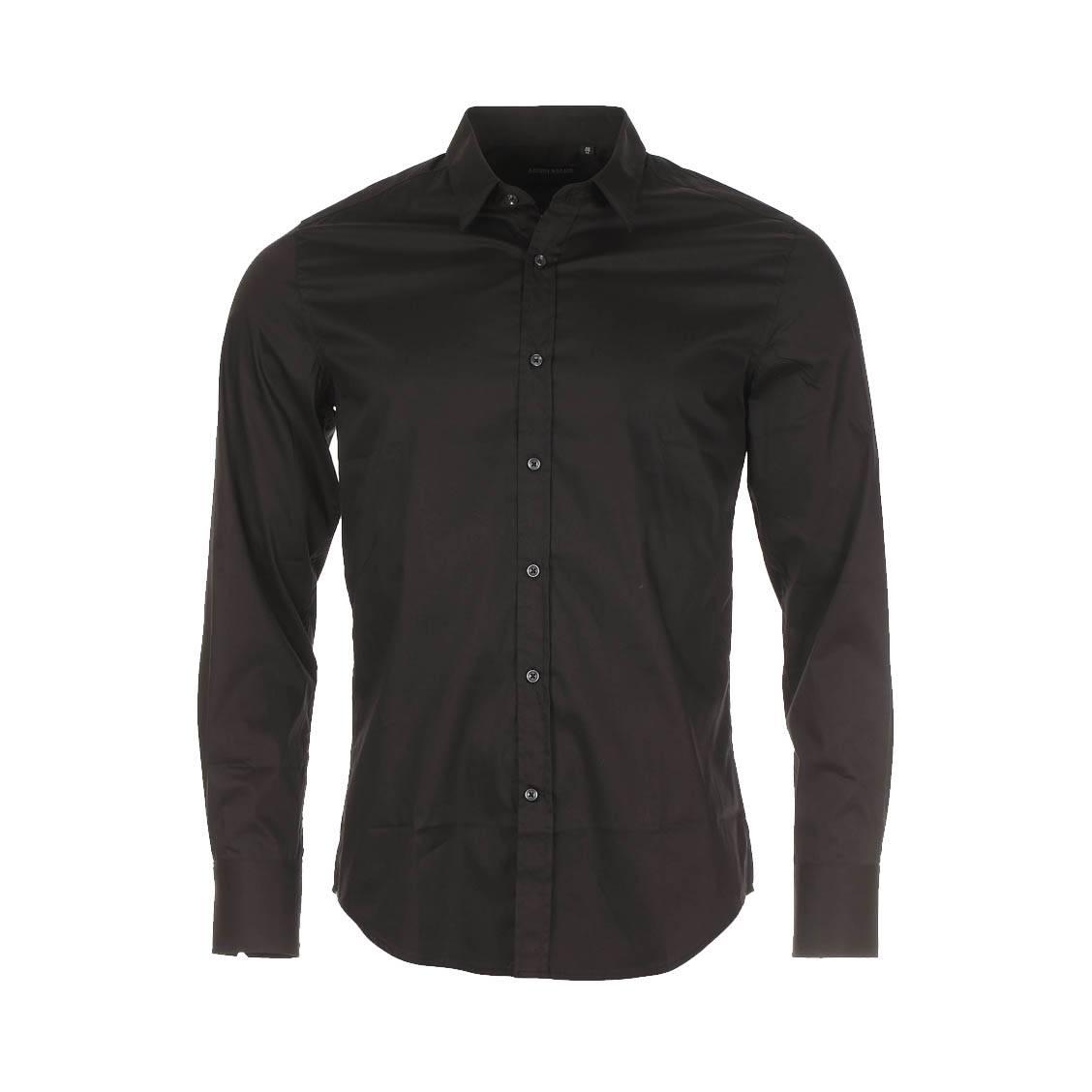 Chemise cintrée  en coton noir