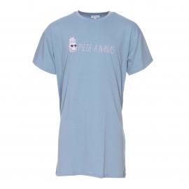 Maxi tee-shirt bleu gris à imprimé