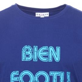 Maxi tee-shirt bleu marine imprimé