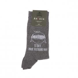 Chaussettes Arthur en pur coton gris foncé