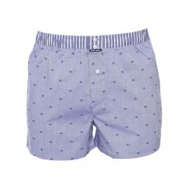 Caleçon Arthur Club bleu jean brodé de petits coeurs