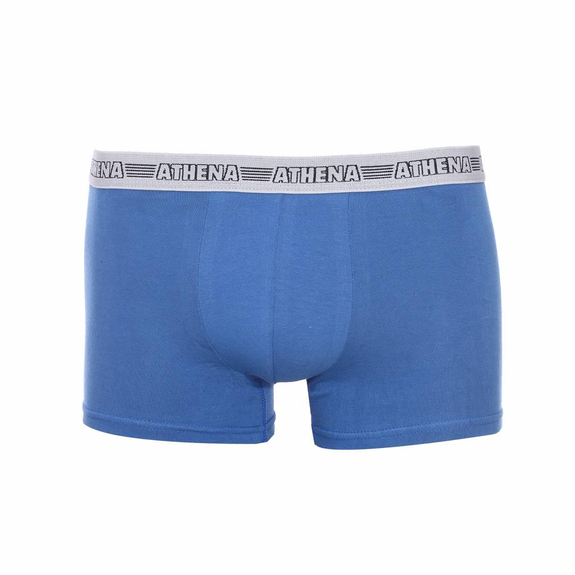 Lot de 3 boxers athena en coton stretch turquoise bleu for Bleu turquoise fonce