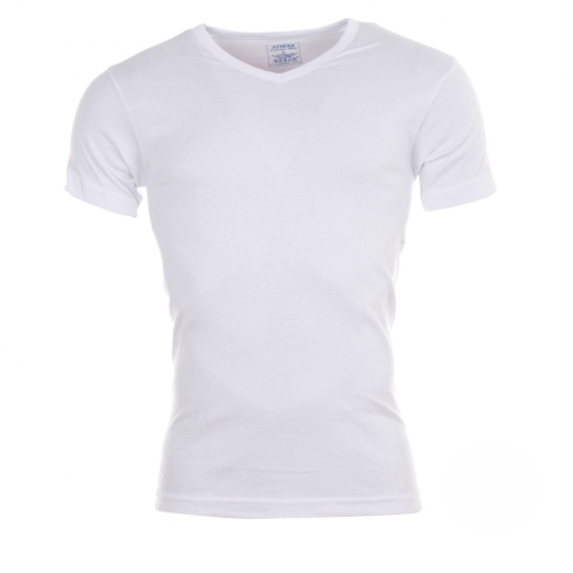 lot de 2 tee shirts col v blanc coton bio rue des hommes. Black Bedroom Furniture Sets. Home Design Ideas
