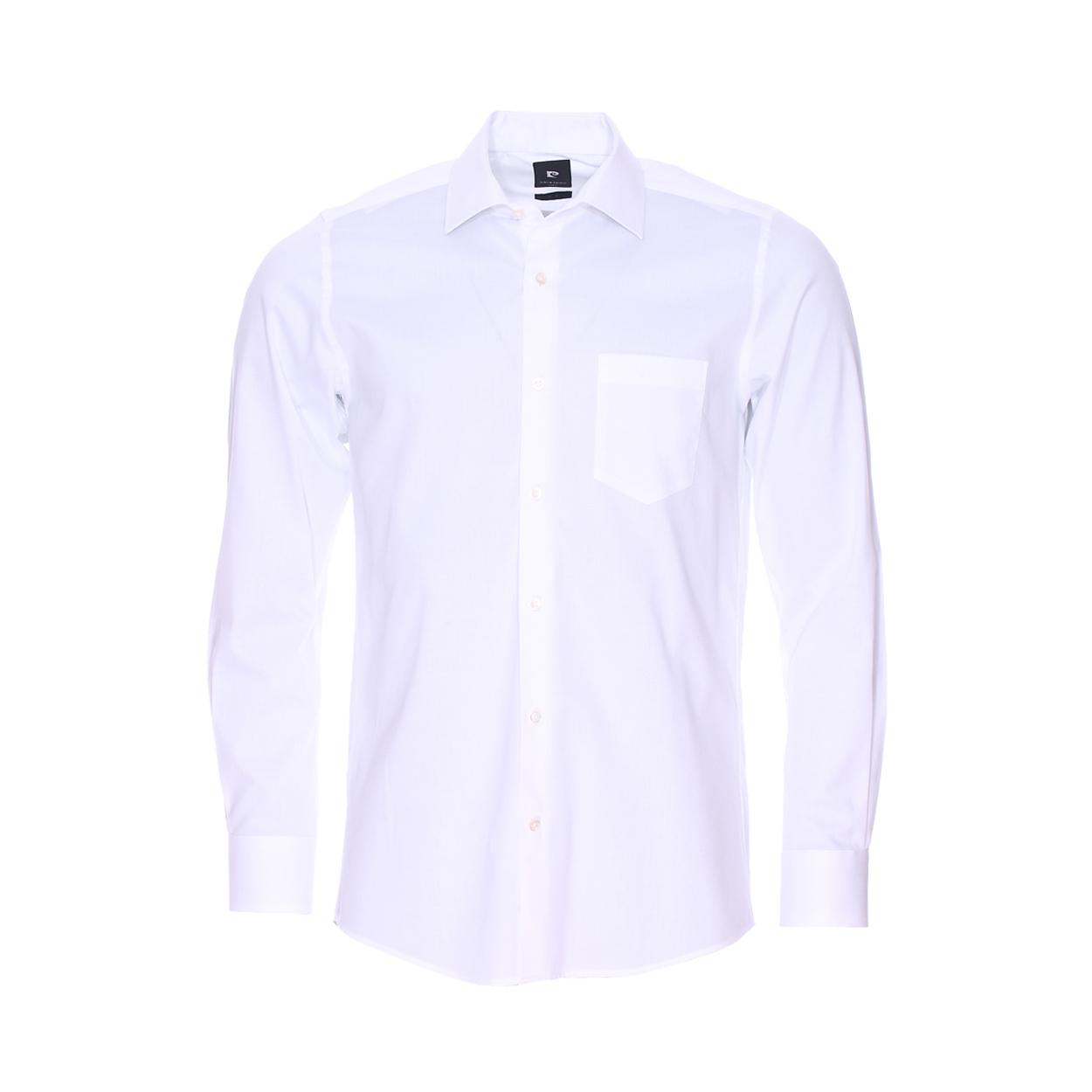 Chemise cintrée  en fil à fil blanc