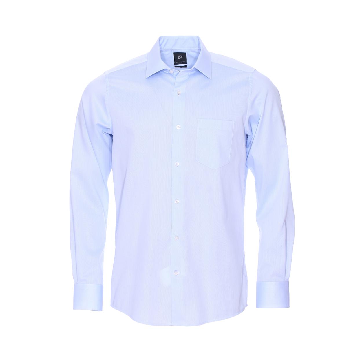 Chemise ajustée  en fil à fil bleu ciel