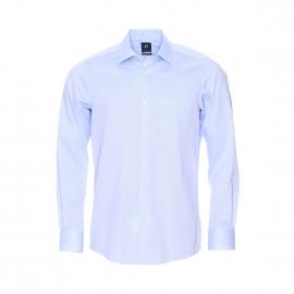 Chemise droite Pierre Cardin en fil à fil bleu ciel