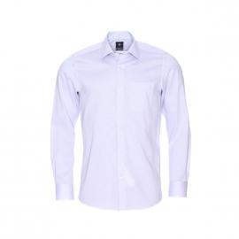 Chemise droite Pierre Cardin en coton fil à fil gris perle