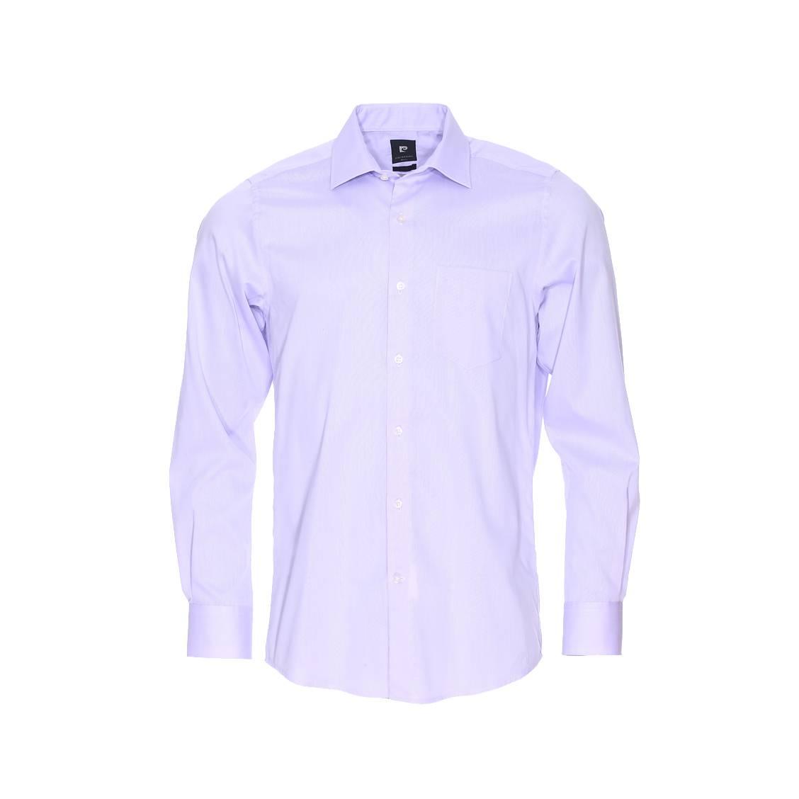 Chemise cintrée  en coton fil à fil parme