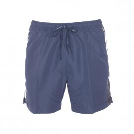 Short de Bain Calvin Klein bleu marine à liserés floqués sur les côtés
