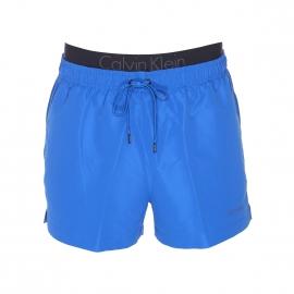 Short de Bain Calvin Klein bleu bleu électrique à double ceinture