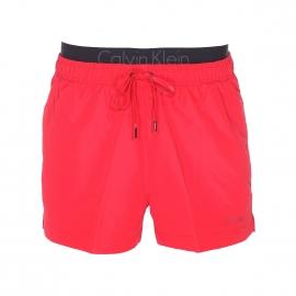 Short de Bain Calvin Klein rouge à double ceinture