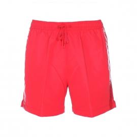Short de Bain Calvin Klein rouge à liserés floqués sur les côtés