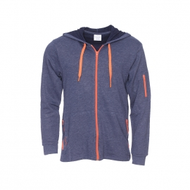 Sweat zippé à capuche Calvin Klein bleu jean