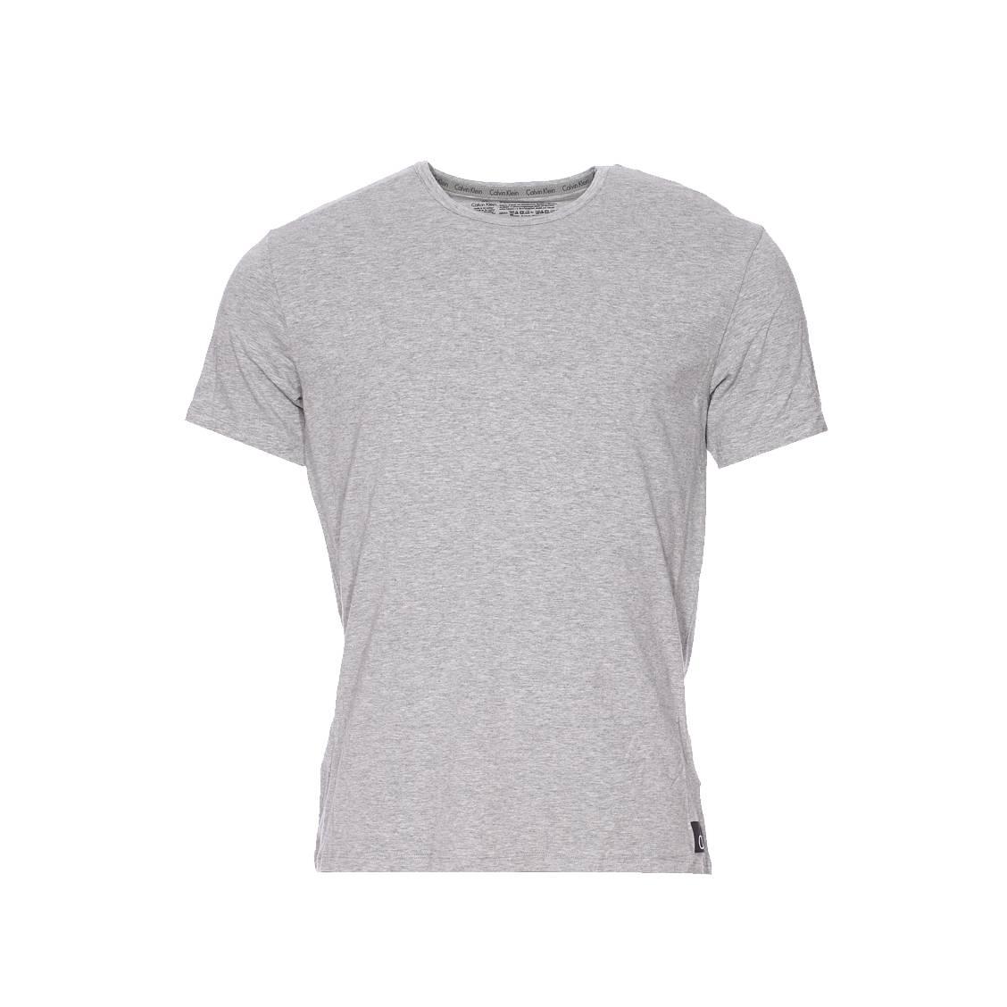 Tee-shirt calvin klein en coton stretch gris