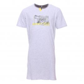 Liquette tee-shirt Christian Cane Nikon gris chiné à motif appareil photo