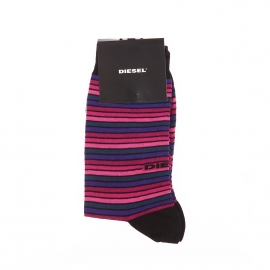 Chaussettes Diesel à rayures roses, violettes et bleu marine