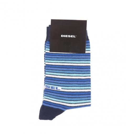 chaussettes diesel bleu marine rayures bleues bleu ciel et gris clair rue des hommes. Black Bedroom Furniture Sets. Home Design Ideas