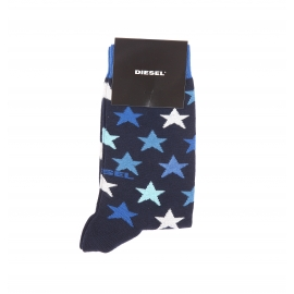 Chaussettes Diesel bleu marine à motifs étoiles