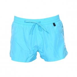 Short de bain court Diesel Fold & Go bleu turquoise