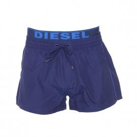 Short de bain Diesel bleu marine à double ceinture griffée Diesel en bleu électrique