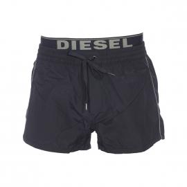 Short de bain Diesel noir à double ceinture griffée Diesel en kaki