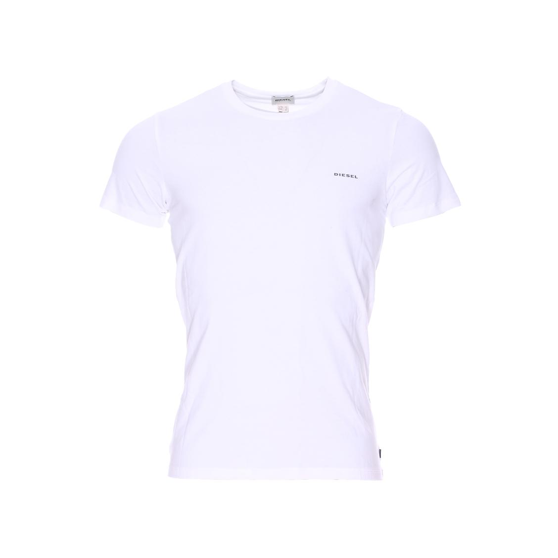 Tee-shirt col rond diesel en coton stretch blanc