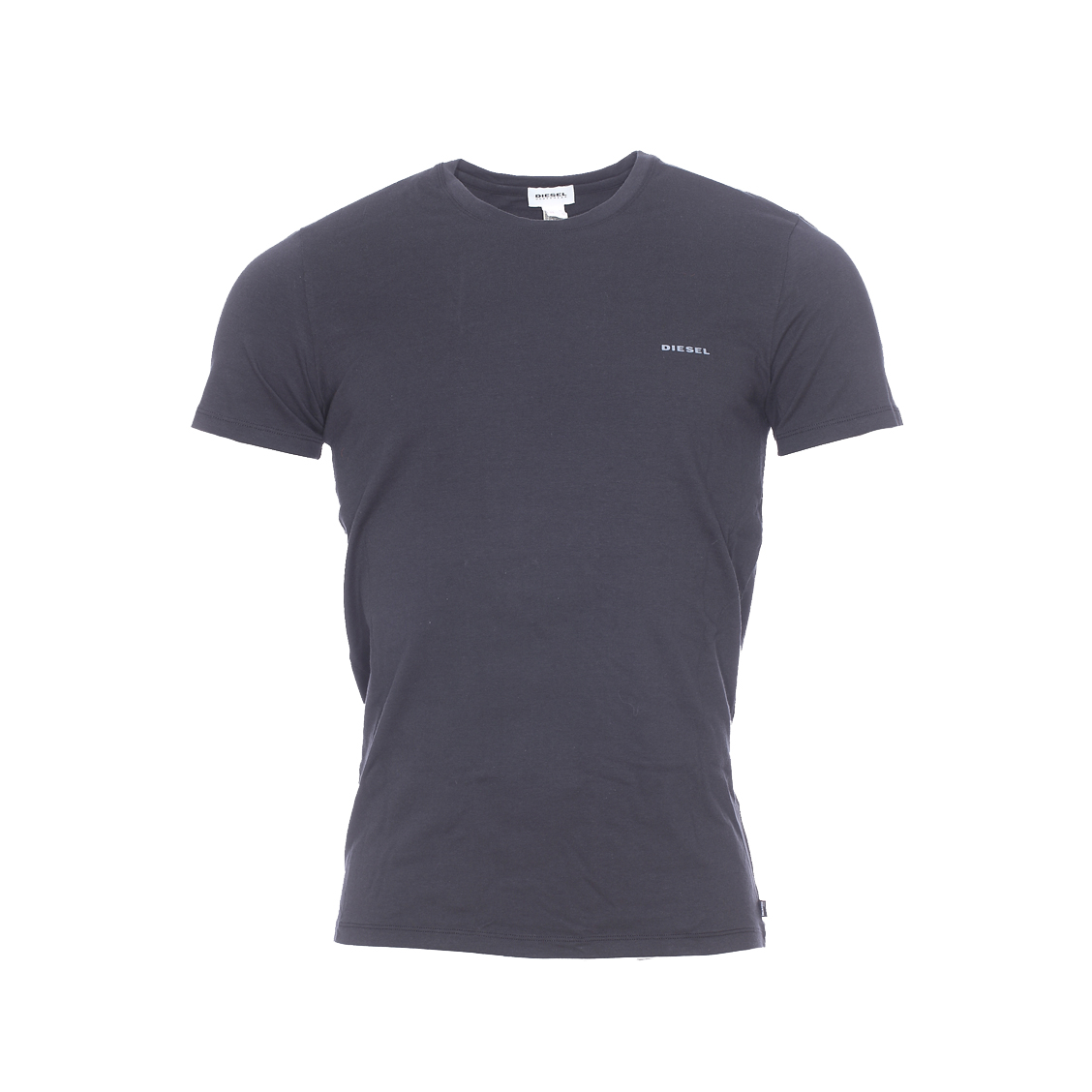 Tee-shirt col rond diesel en coton stretch noir