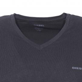 Lot de 3 tee-shirts col V Diesel en coton noir