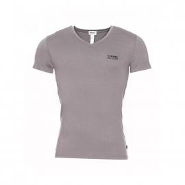 Tee-shirt Diesel col V stretch gris