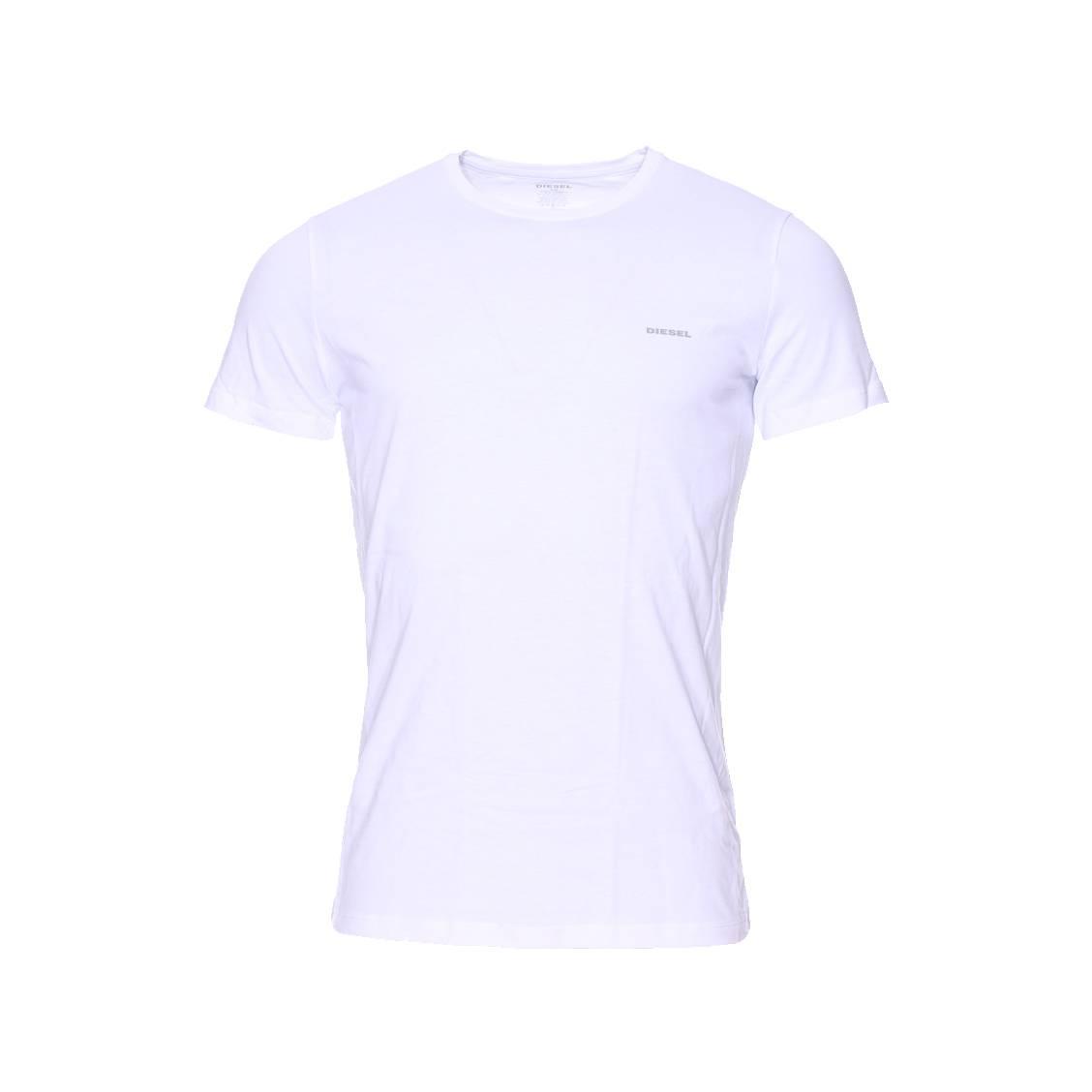 lot de 3 tee shirts col rond diesel blancs rue des hommes. Black Bedroom Furniture Sets. Home Design Ideas