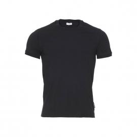 Tee-shirt col rond Dolce & Gabbana en coton stretch noir