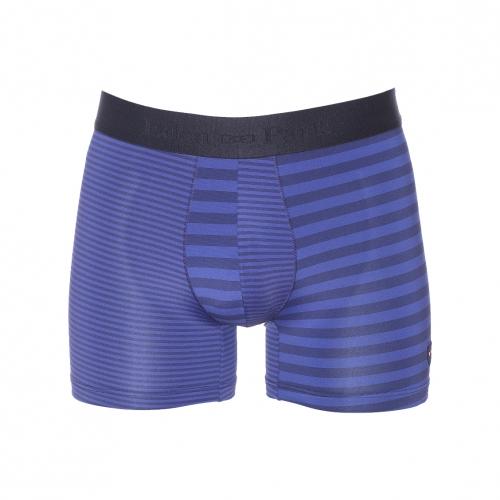Boxer  en polyamide bleu � rayures bleu marine
