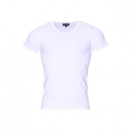 Tee-shirt col V Eden Park en coton blanc