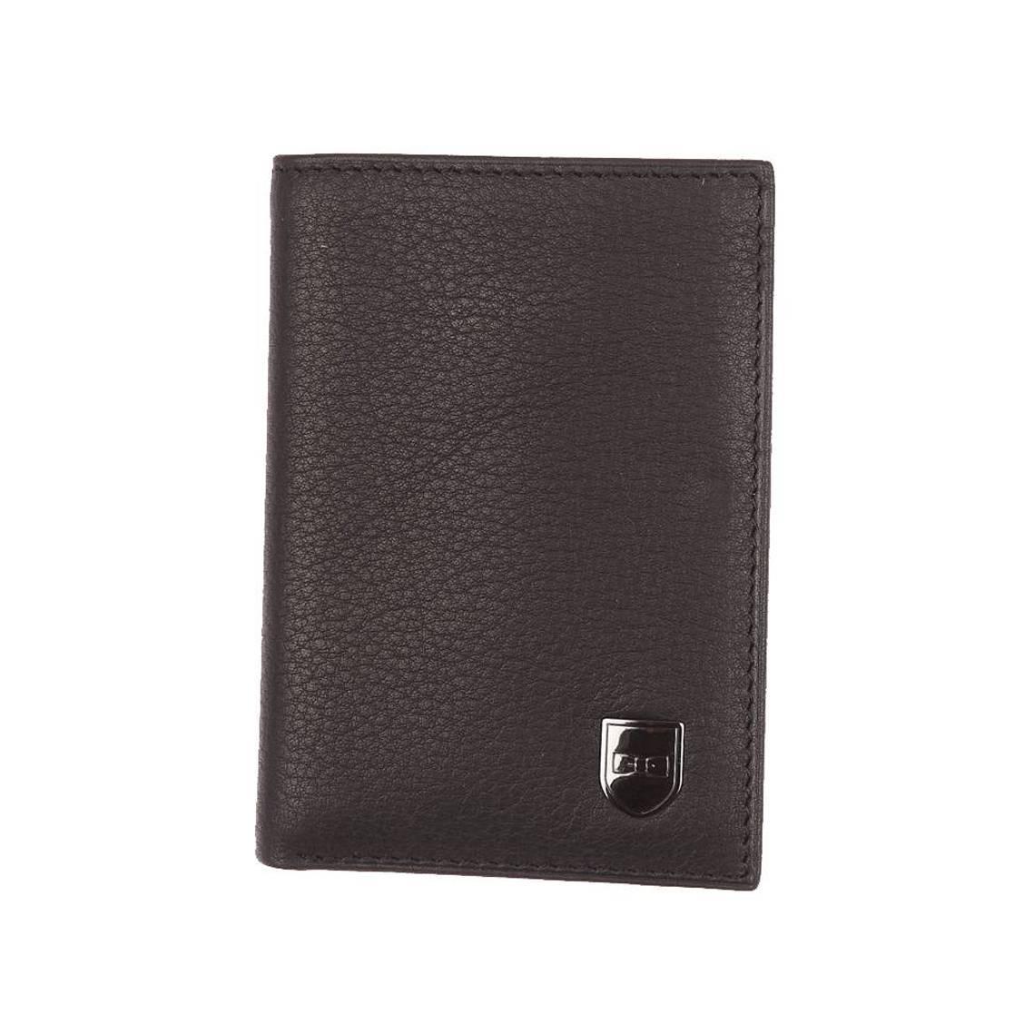 Porte-cartes  en cuir de vachette noir