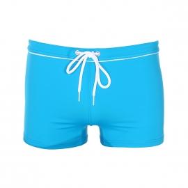 Boxer de bain Eminence turquoise à cordon de serrage blanc