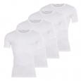 Lot de 4 Tee-shirts col rond Eminence blancs : 3 achetés +1 offert