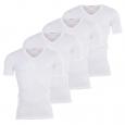 Lot de 4 Tee-Shirts blancs col V : 3 achetés + 1 offert