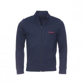 Sweat zippé Emporio Armani en coton bleu marine