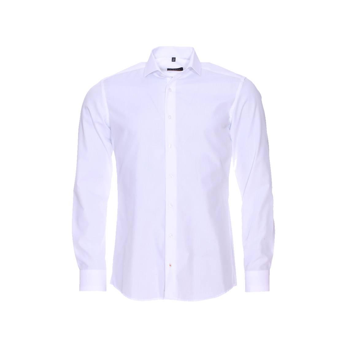 Chemise ajustée Eterna en popeline blanche Sans repassage