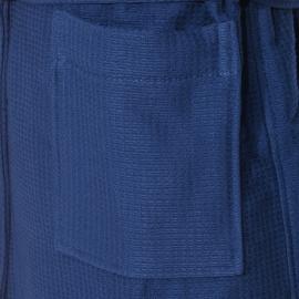 Peignoir de bain à capuche Gant bleu marine gaufré, intérieur éponge